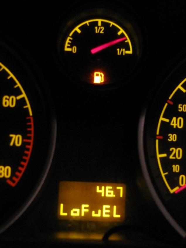 Fährt nun mit 100% Reserve-Benzin (und -Gas): Opel Zafira. Quelle: Sash