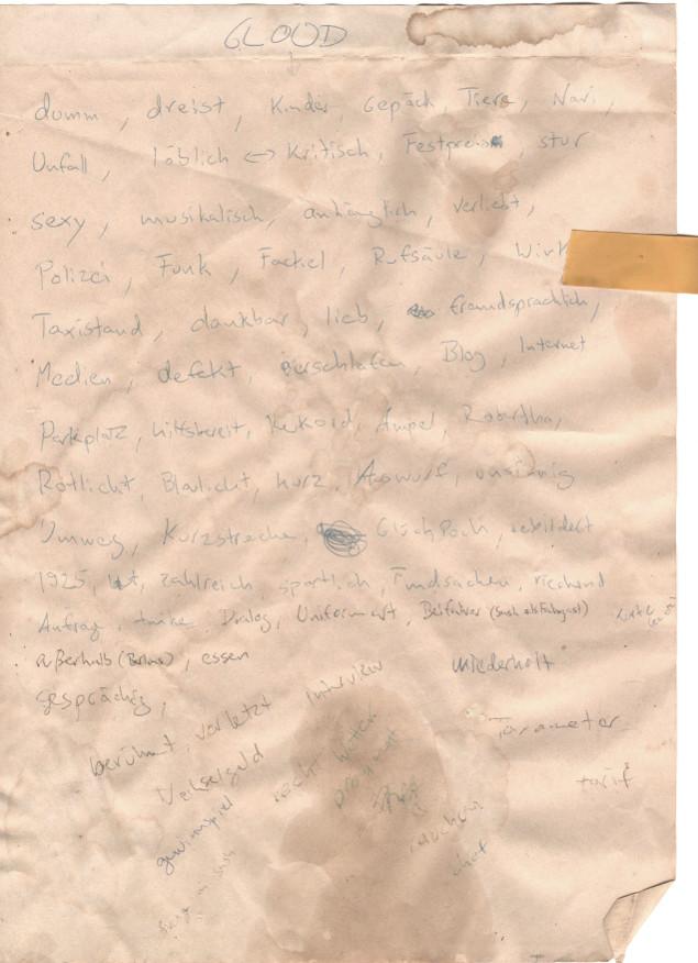 Scan der originalen (und aktuellen) Tag-Liste von GNIT. Quelle: Sash